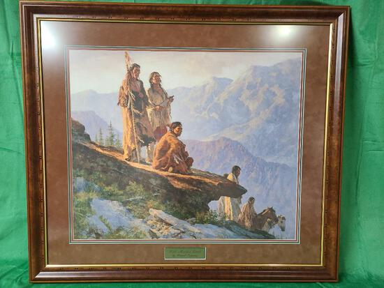 """""""With Mother Earth"""" by Howard Terpning Signed and Numbered 605/1250 28 1/2"""" x 24"""""""