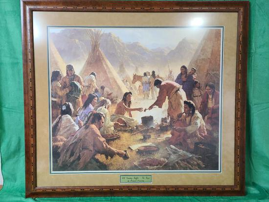 """""""The Feast"""" by Howard Terpning Signed and Numbered 896/1850 36"""" x 31 1/4"""""""