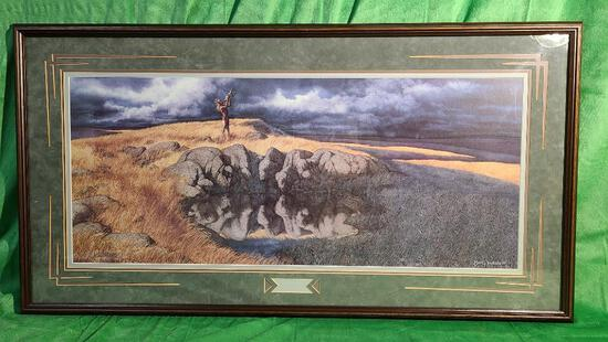 """""""Calling the Buffalo"""" by Bev Doolittle, Signed & Numbered 500/8500 11"""" x 14"""""""