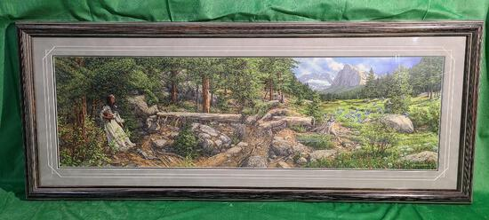 """""""Music in the Wind"""" by Bev Doolittle, Signed & Numbered 6660/43500 10.5"""" x 36.5"""""""