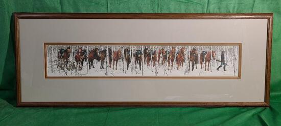 """Two Indian Horses"" by Bev Doolittle - Print Taken from the Portfolio ""WHERE SILENCE SPEAKS"""