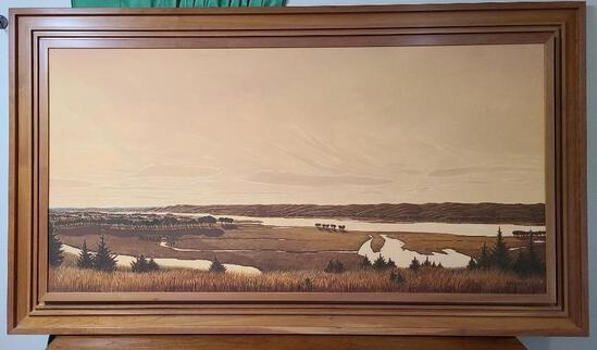 "Horizon #890 ""Fall Evening..."" by Anne Burkholder in Lincoln NE - 36"" x 72"""