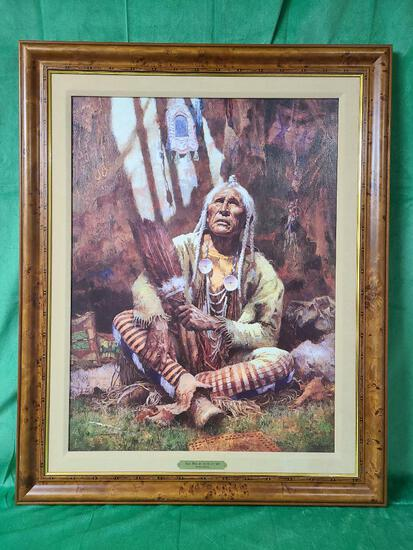 """""""Holy Man of Blackfoot"""" by Howard Terpning Signed and Numbered 393/975 24 1/2"""" x 32 1/2"""""""