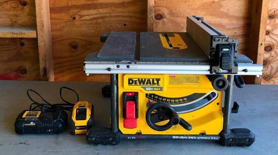 DeWalt Model: DCS7485 8-1/4in Cordless Table Saw, 110v