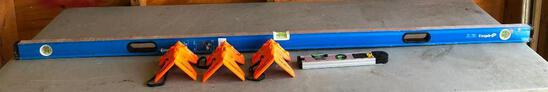 Levels, Empire 72in Compact Box Level, (3) Johnson Post & Pipe Levels