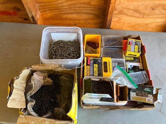 Large Lot of Deck Screws, Drywall Screws, Hardware