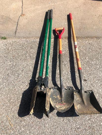Post Hole Digger, Two Shovels