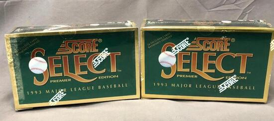 (2) SCORE 1993 Select Premier Edition Wax Packs - 15 Cards per Pack - Factory Sealed