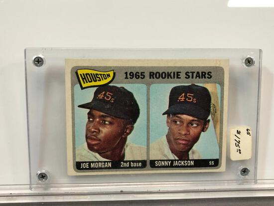1965 Topps #16 Rookie Card - Houston's Rookie Stars - Joe Morgan 2B & Sonny Jackson SS