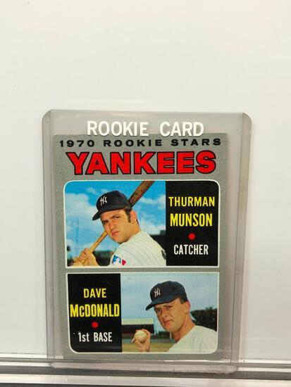 1970 Topps #189 Rookie Card - Yankees' Rookie Stars - Thurman Lee Munson - Catcher & David Bruce