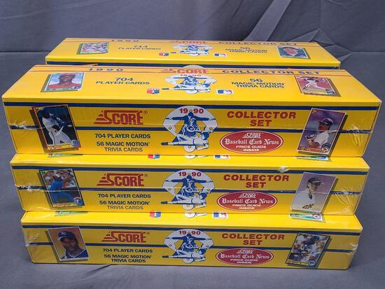 (6) SCORE 1990 Major League Baseball Collector Sets Product #99160 - Factory Sealed
