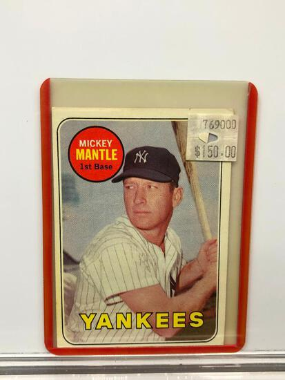 1969 Topps #500 - Yankees' Mickey Mantle 1B