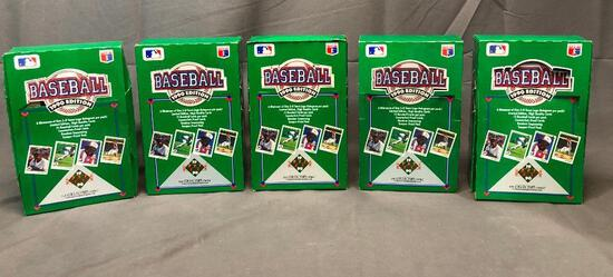 (5) 1990 Upper Deck The Collector's Choice 1990 Edition Wax Packs