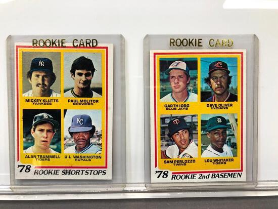 Lot of 2; 1978 Topps Rookie Cards - (4) 2nd Basemen & (4) Shortstops