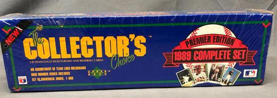 Upper Deck The Collector's Choice Premier Edition 1989 Complete - 3D Team Logo Holograms & Baseball