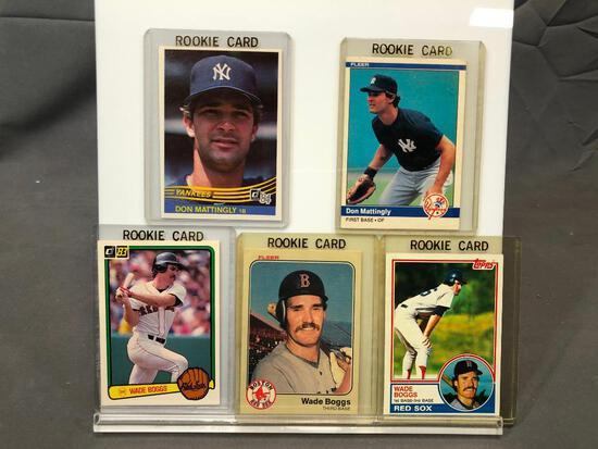 Lot of 5; Rookie Cards - 1984 Fleer #131, 1983 Donruss #586, 1984 Donruss #248, 1983 Topps #498 &