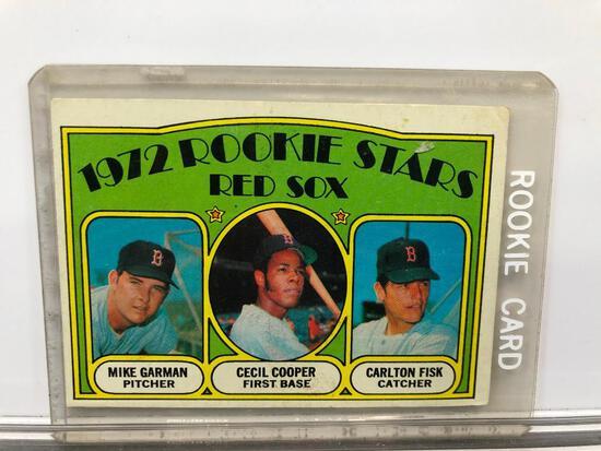 1972 Topps #79 Rookie Stars Red Sox - Mike Garman Pitcher, Cecil Cooper 1B, Carlton Fisk Catcher