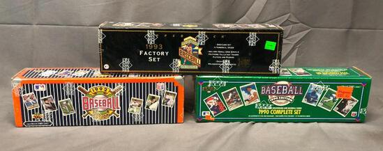 (3) Upper Deck Wax Packs - 1990, 1992, 1993 The Collector's Choice Complete Sets & Factory Set -