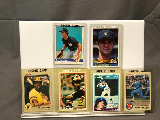 Lot of 6; Rookie Cards - 1983 Donruss #248, 1983 Topps #83, 1984 Fleer #131, 1978 Topps #36, 1983