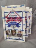 (3) 1993 Donruss Major League Baseball Series 1 Wax Packs - Factory Sealed