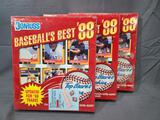 (3) 1988 Donruss Baseball's Best Puzzle and Cards Complete Sets - Factory Sealed