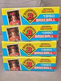 (4) 1990 Bowman Official Complete Sets - Factory Sealed