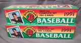 (2) 1991 Bowman Official Complete Sets - Factory Sealed
