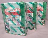 (3) 1992 Fleer Baseball Trading Cards Wax Packs - Factory Sealed