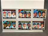Lot of 6; Topps Baseball Leaders' Cards - See Pictures