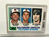 1982 Topps #21 Baltimore Orioles Future Stars - Topps - Bob Bonner Shortstop, Cal Ripken 3B & Jeff