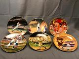 (6) Collectible Illustrated Round Plates - Numbered Limited Edition w/ COA
