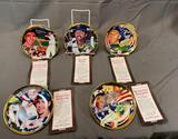 (5) The Hamilton Collection Limited Edition Numbered Round Plates