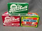 (3) 1989 & 1991 Topps Major League Debut Baseball Cards & Traded Series - Not Sealed