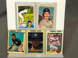 Lot of 5; Mattingly & Boggs Rookie Cards - 1984 Fleer #131, 1983 TOPPPS #498, 1982 Donruss #586,