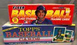 Lot of 2; 1989 Baseball Cards - Fleer Baseball Logo Stickers & Trading Cards & Topps Official