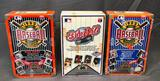 (3) Upper Deck Wax Packs - 1991 & 1992 The Collector's Choice 3D Team Holograms and Baseball Cards -