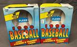 (2) 1990 Fleer Baseball Logo Stickers & Trading Cards 10th Anniversary Edition Item# 411
