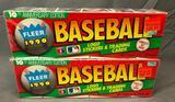 (2) 1990 Fleer Baseball Logo Stickers & Trading Cards 10th Anniversary Edition Item# 420 - Factory