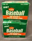 (2) 1987 Fleer Baseball Logo Stickers & Trading Cards Item# 681 - Factory Sealed
