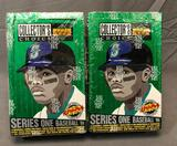 (2) 1994 Upper Deck The Collector's Choice Series One Wax Packs - Factory Sealed