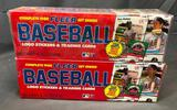 (2) 1988 Fleer Complete Sets - Logo Stickers & Trading Cards - Factory Sealed