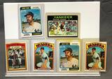 Lot of 6; Topps Yankees Thurman Munson Cards - (2) 1974 #340, (2) 1972 #441, 1971 Hi-Lights #442 &