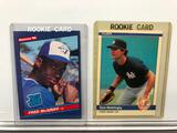 Lot of 2; Rookie Cards - 1985 Donruss #28 Fred McGriff 1B & 1984 Fleer #131 Don Mattingly 1B OF