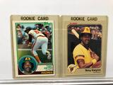 Lot of 2; Padres Tony Gwynn Rookie Cards - 1983 Topps #482 & 1983 Fleer #360