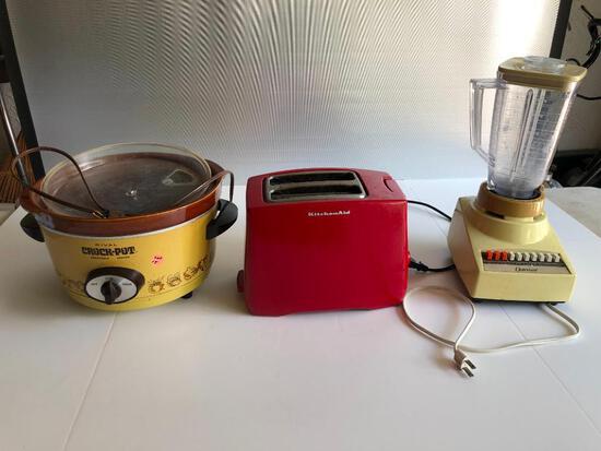 Osterizer Blender, KitchenAid Toaster and Rival Crockpot