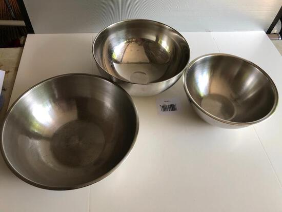 Vollrath Aluminum 8qt., 10 qt. and 12 qt. mixing bowls