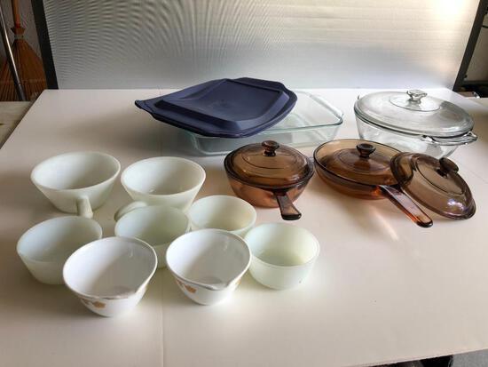 Various Bowls, VisionWare and Corning