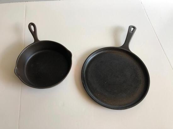 Cast Iron Skillet and Griddle