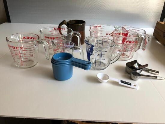 Pyrex Measuring Glassware and other Measuring Items
