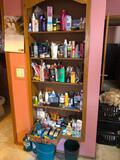 Everything on Shelves & Floor; Lotion, Hair Products, Personal Care Items, etc